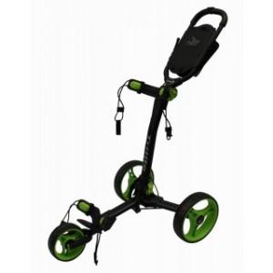 Axglo Golftrolley - schwarzer Rahmen, grüne Räder