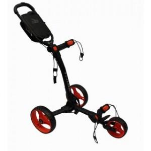 Axglo Golftrolley - schwarzer Rahmen, rote Räder