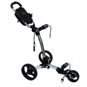 Axglo Golftrolley - silberner Rahmen, schwarze Räder