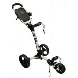 Axglo Golftrolley - weißer Rahmen, schwarze Räder