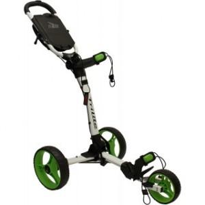 Axglo Golftrolley - weißer Rahmen, grüne Räder